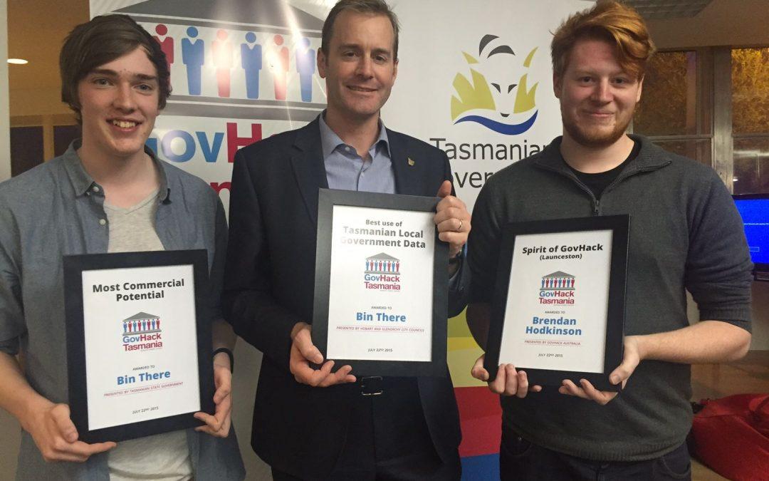 Tasmania's GovHack winners recognised at awards night