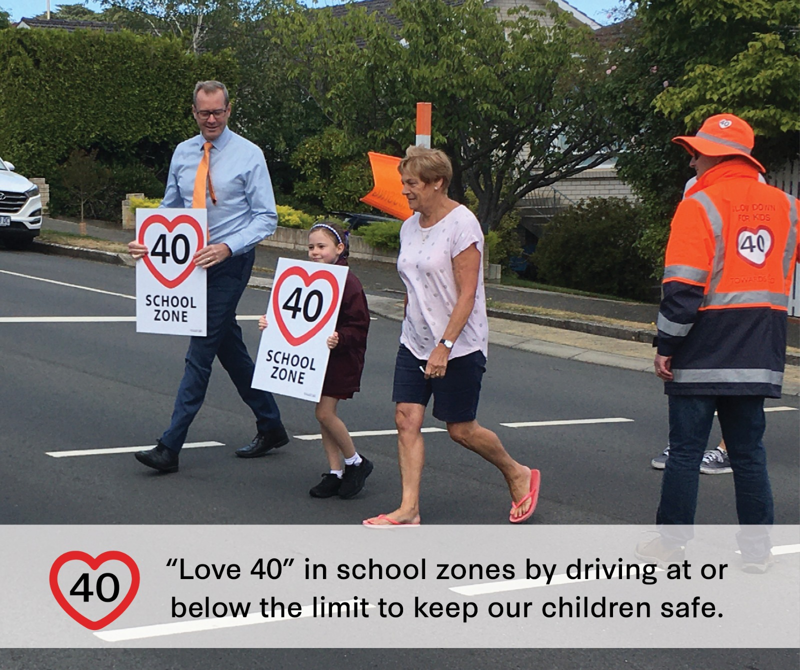 'Love 40' to keep our precious children safe