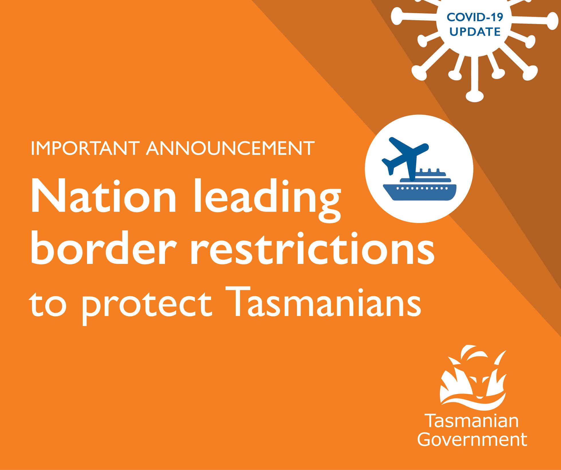 Nation Leading Border Restrictions to Protect Tasmanians