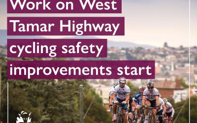 Work on West Tamar Highway cycling safety improvements start